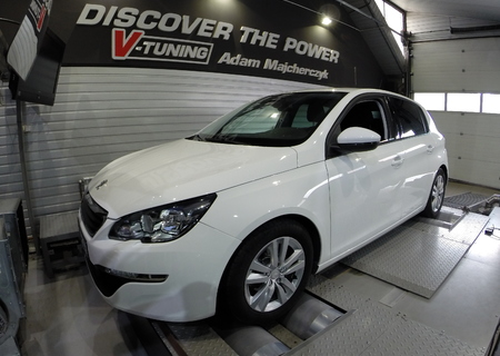 Chip Tuning Peugeot 308 1.6 HDi 92 KM + 20 KM i + 25 Nm