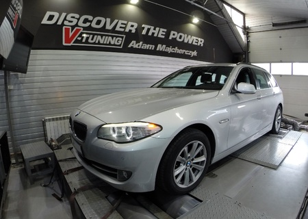 Chip Tuning BMW F10 520d 184 KM + 41 KM i + 81 Nm