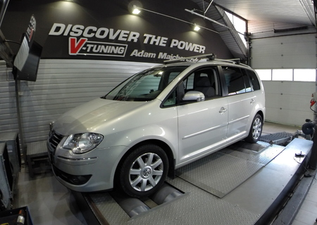 Chip Tuning Volkswagen Touran 2.0 TDI 140 KM + 26 KM i + 86 Nm