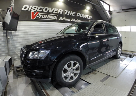 Chip Tuning Audi Q5 2.0 TDI 170 KM + 27 KM i + 53 Nm