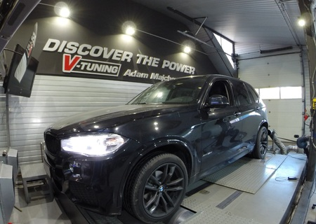 Chip Tuning BMW X5 F15 3.0D 258 KM + 41 KM + 55 Nm