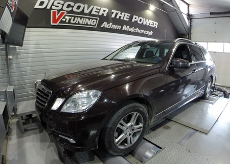 Chip Tuning Mercedes-Benz E-Class W212 200CDI 136KM + 57 KM + 117 Nm