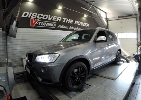 Chip Tuning BMW X3 F25 20d 163 KM   + 52 KM + 65 Nm