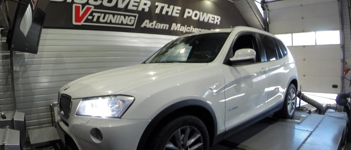 Chip Tuning BMW X3 F25 30d 258 KM + 49 KM   + 74 Nm