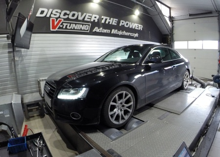 Chip Tuning Audi A5 3.0 TDI 239 KM + 51 KM   + 101 Nm