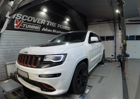 Chip Tuning Jeep Grand Cherokee SRT 6.4 468 KM + 41 KM + 56 Nm