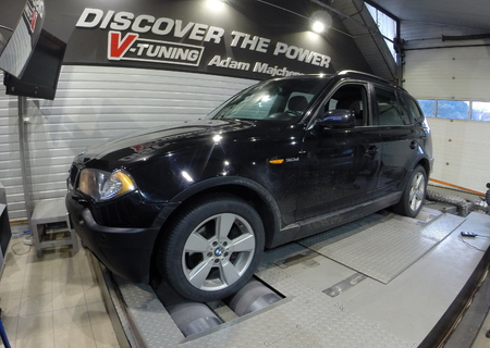 Chip Tuning BMW X3 E84 3.0d 204 KM + 46 KM + 106 Nm