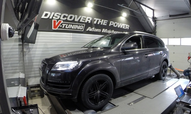 Chip Tuning Audi Q7 4.2 TDI 340 KM  + 50 KM + 71 Nm