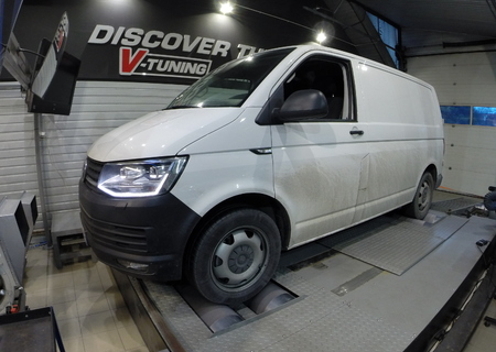 Chip Tuning VW Transporter T6 2.0 TDI 204 KM + 35 KM + 77 Nm