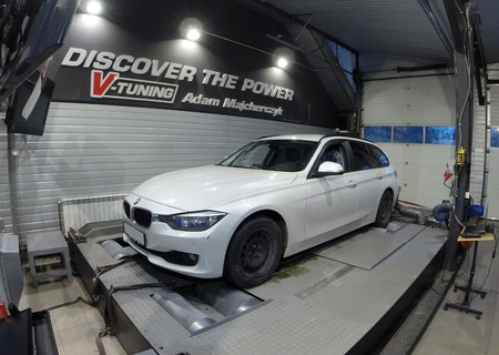 Chip Tuning BMW 3-Series F31 316d 116KM + 57 KM + 120 Nm