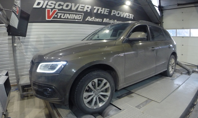 Chip Tuning Audi Q5 3.0 TDI 258 KM + 53 KM + 96 Nm
