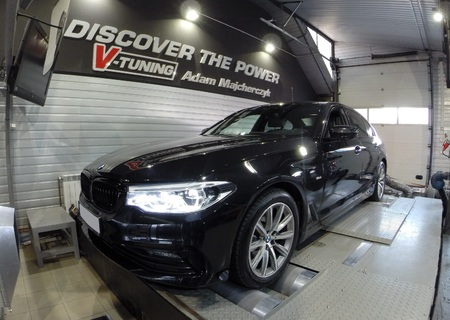 Chip Tuning BMW G30 520D 190 KM + 31 KM + 58 Nm