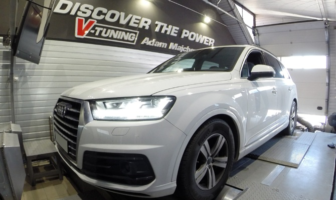 Chip Tuning Audi Q7 3.0 TDI 218 KM + 85 KM + 168 Nm