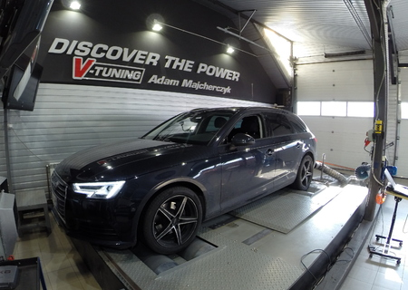 Chip Tuning Audi A4 B9 2.0 TDI 150 KM + 31 KM + 94 Nm