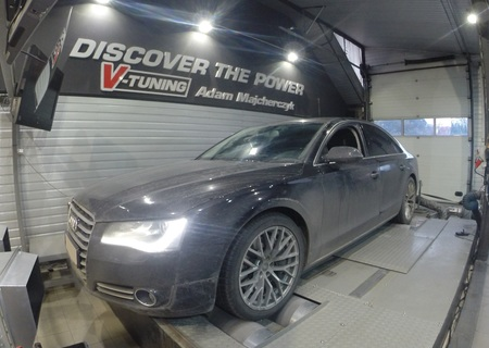 Chip Tuning Audi A8 D4 4.2 TDI 350 KM + 56 KM + 192 Nm