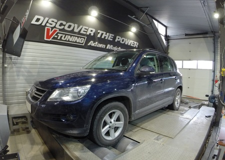 Chip Tuning Volkswagen Tiguan 2.0 TDI CR 140 KM  + 51 KM + 90 Nm