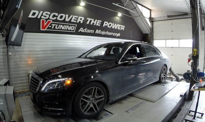 Chip Tuning Mercedes S550 W222 4.7 BiT 455 KM + 64 Km + 102 Nm