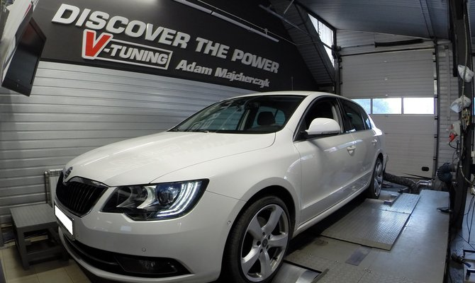 Chip Tuning Skoda Superb 2.0TDI 180 KM + 25KM oraz 63Nm | V-Tuning Leżajsk