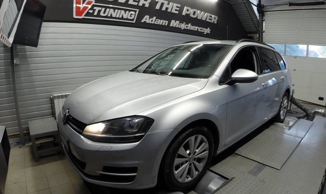Chip Tuning VW Golf VI 1.6TDI + 38KM oraz 67Nm | V-Tuning Leżajsk