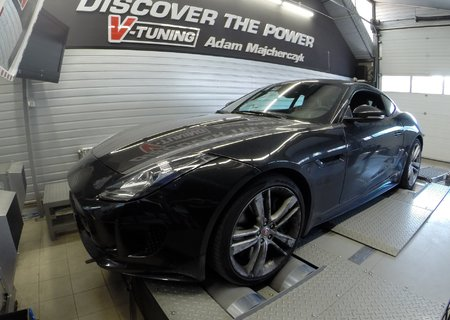 Chip Tuning Jaguar F-Type S 3.0 Kompresor | V-Tuning Leżajsk