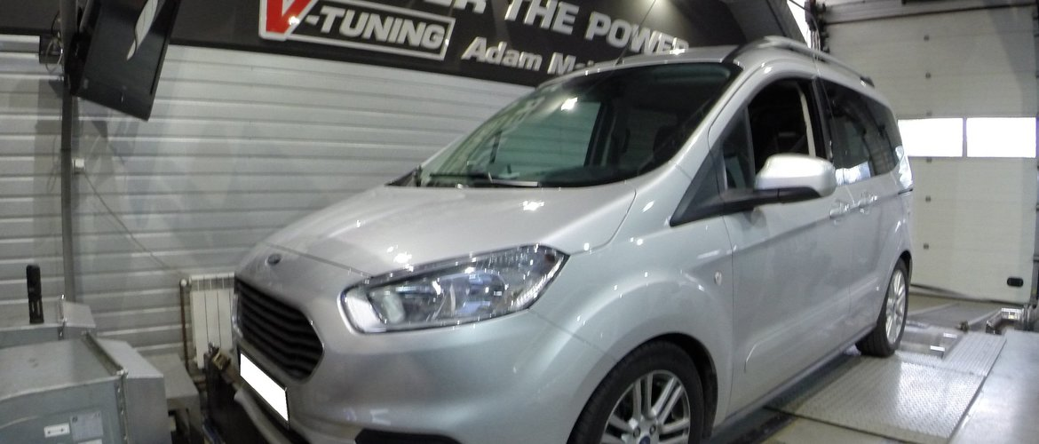 Chip Tuning Ford Tourneo Courier 1.5TDCi 120KM | V-Tuning Leżajsk