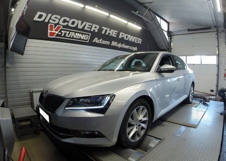 Chip Tuning Skoda Superb 2.0TDI 150KM | V-Tuning Leżajsk