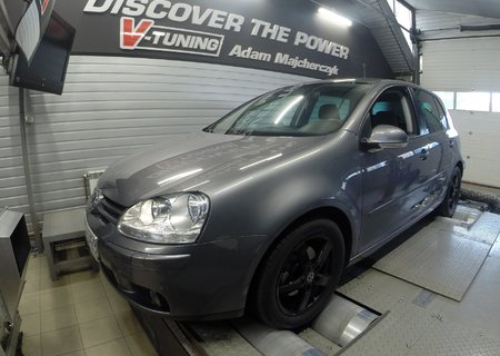 Chip Tuning VW Golf V 1.9TDI 105KM | V-Tuning Leżajsk
